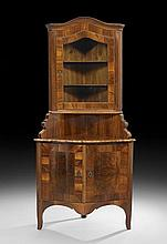 Northern Italian Walnut Corner Cabinet