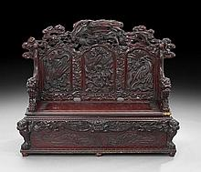 Japanese Carved Hall Seat