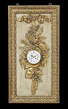 Louis XVI-Style Boiserie Panel with Clock
