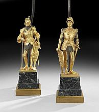 Pair of Bronze Figures of  Arthur & Theodoric