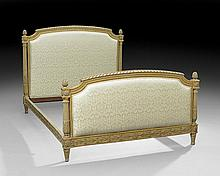 Louis XVI-Style Giltwood and Polychrome Bed
