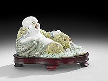 Chinese Export Porcelain Buddha on Stand