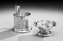 Two Pieces of 19th-Century Russian .875 Silver