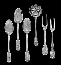 Six Pieces of Continental Silver Flatware