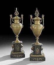 Pair of Napoleon III Neo-Grec Garniture Urns