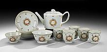 Thirteen-Piece Chinese Export Porcelain Tea Set