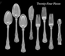 24 Pieces of George IV & Later Sterling Flatware