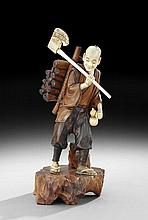Japanese Figure of a Wood Cutter