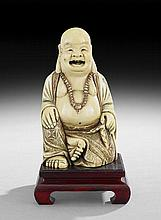 Japanese Ivory Figure of Hotei