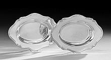 Pair of Shreve & Co. Sterling Vegetable Dishes