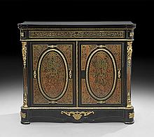 Napoleon III Ebonized and Boulle Parlor Cabinet