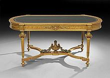 Fine Napoleon III Parcel-Gilt Writing Table