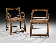 Pair of Chinese Huang Huali Rosewood Chairs