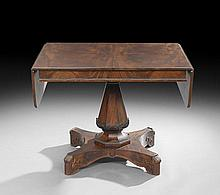 American Late Classical Mahogany-Veneered Sofa Table