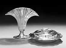 Two Pieces of American Silverplate Tableware