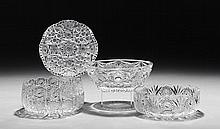 Four Pieces of American Cut Glass