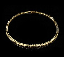 18 Kt. Yellow Gold and Yellow Diamond Necklace