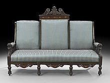 American Aesthetic Movement Inlaid Rosewood Sofa