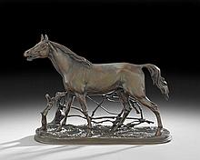 French Patinated Bronze Sculpture of a Horse