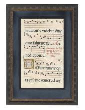 English Medieval Musical Manuscript on Vellum