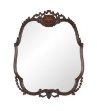 Fruitwood Mirror in the Continental Rococo Taste