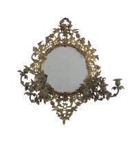 Rococo Revival Gilt-Bronze Girandole Mirror