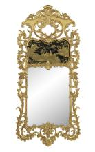 English Chippendale-Style Giltwood Pier Mirror
