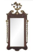 English Colonial Revival Parcel-Gilt Mirror