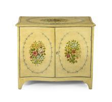 Georgian-Style Polychrome Cabinet