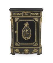 Napoleon III Ebonized and Slate-Top Cabinet