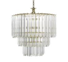 Contemporary Oval Eleven-Light Chandelier