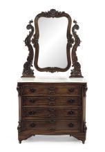 American Rococo Revival Rosewood Dressing Bureau