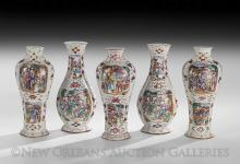 Five-Piece Chinese Export Porcelain Garniture Set