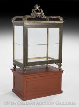 Continental Polychrome Vitrine Cabinet