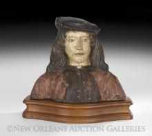 Italian Polychrome Terracotta Bust of Richard III