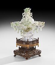 Fine Chinese Carved Jade Censer