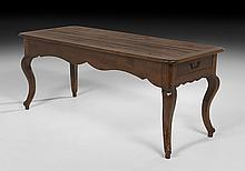 French Provincial Oak Refectory Table