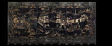 Chinese Twelve-Panel Coromandel Screen
