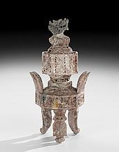 Chinese Carved Chicken Blood Stone Censer