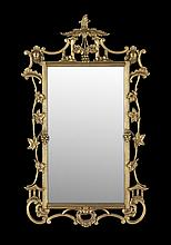Giltwood Mirror in the Chinese Chippendale Taste
