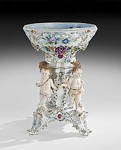 Dresden Porcelain Figural Centerpiece