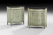 Pair of Adam-Style Polychrome Cabinets
