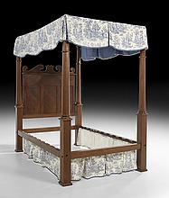 American Classical Mahogany and Cherry Tester Bed
