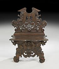 Italian Oak Hall Chair