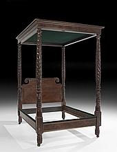 Fine American Classical Mahogany Tester Bed