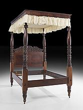American Classical Mahogany Tester Bed