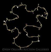 David Yurman 18 Kt. Gold and Multi-Stone Necklace