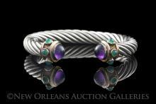 David Yurman Silver, Gold & Gemstone Bracelet