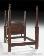 American Late Classical Mahogany Tall-Post Bed