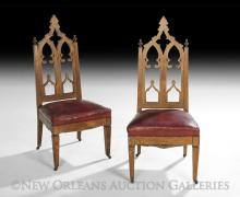 Pair of American Gothic Revival Sidechairs